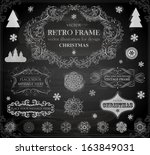 christmas decoration collection ... | Shutterstock .eps vector #163849031