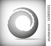 circular abstract lines  vector ... | Shutterstock .eps vector #163850201