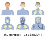 avatars for personal protective ... | Shutterstock .eps vector #1638503044