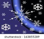 snowflakes white | Shutterstock .eps vector #163855289