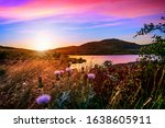Violet Hour At Sunset In The...