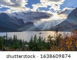 St. Mary Lake And Wild Goose...