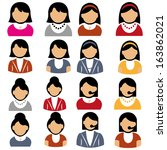 abstract people icons on a... | Shutterstock .eps vector #163862021