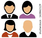 abstract people icons on a... | Shutterstock .eps vector #163862129