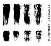 vector set of grunge brush... | Shutterstock .eps vector #163862195