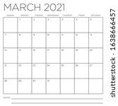 march 2021 square month wall... | Shutterstock .eps vector #1638666457