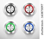 set of four volume knobs in...