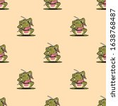 samurai frog with katana...   Shutterstock . vector #1638768487