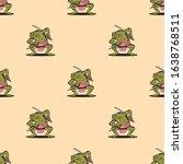 samurai frog with katana...   Shutterstock .eps vector #1638768511