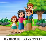 happy family member vacation in ...   Shutterstock .eps vector #1638790657