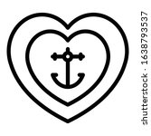Tattoo Anchor Heart Icon....