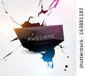 abstract modern frame for... | Shutterstock .eps vector #163881185