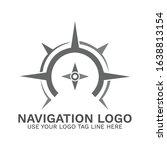 navigation logo compass logo...   Shutterstock .eps vector #1638813154