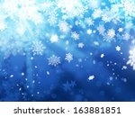 xmas abstract winter background illustration - stock photo