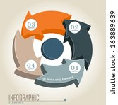 infographic elements in the... | Shutterstock .eps vector #163889639