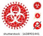 glowing white mesh virus hazard ...   Shutterstock .eps vector #1638901441