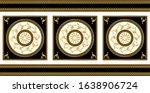 seamless border with golden... | Shutterstock .eps vector #1638906724