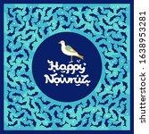 nowruz greeting card with bird... | Shutterstock .eps vector #1638953281