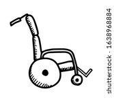 electric wheelchair in hand... | Shutterstock .eps vector #1638968884