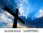 Cross Silhouette And The Holy...