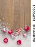 silvery christmas snowflake... | Shutterstock . vector #163900301