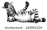 illustration of a zebra resting ...
