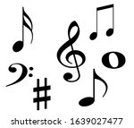 melody set symbol note...   Shutterstock . vector #1639027477