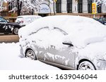 Cars Covered With Snow From The ...