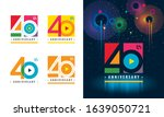 set of 40th anniversary... | Shutterstock .eps vector #1639050721