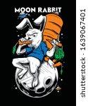 moon rabbit eat carrot... | Shutterstock .eps vector #1639067401