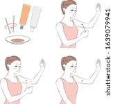 procedure for women to try hair ... | Shutterstock .eps vector #1639079941