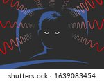 man is lying on bed at deep... | Shutterstock .eps vector #1639083454