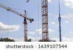 many of cranes. tower cranes... | Shutterstock . vector #1639107544