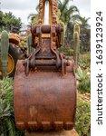Rusty Old Yellow Excavator...