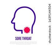 sore throat  pain in throat... | Shutterstock .eps vector #1639144504
