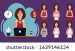 cartoon character beautiful... | Shutterstock .eps vector #1639146124