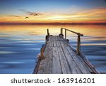 the colors of the sunset in the ... | Shutterstock . vector #163916201