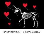 Unicorn With A Heart Shaped...