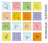 bubble speech in paper notes | Shutterstock .eps vector #163918181