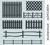 Vector Set Of Rural Fences...