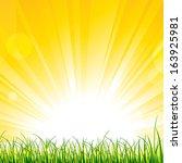 Vector Illustration Of Grass O...