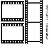 film frame  vector | Shutterstock .eps vector #163930229