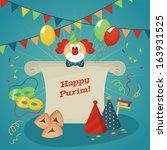 poster design for jewish... | Shutterstock .eps vector #163931525