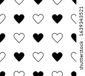 seamless pattern with hearts.... | Shutterstock .eps vector #1639343521