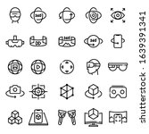 set of virtual reality icons....   Shutterstock .eps vector #1639391341