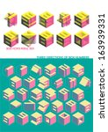 fonts of box   cube shape with...