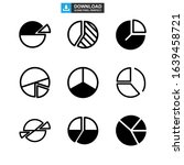 pie chart icon or logo isolated ...