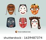 beautiful korean traditional... | Shutterstock .eps vector #1639487374