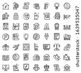 Utilities Icons Set. Outline...
