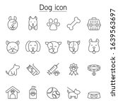 dog icon set in thin line style   Shutterstock .eps vector #1639563697